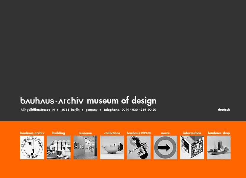 Bauhaus Website In 2000 In 2020 Web Design Bauhaus Design Museum