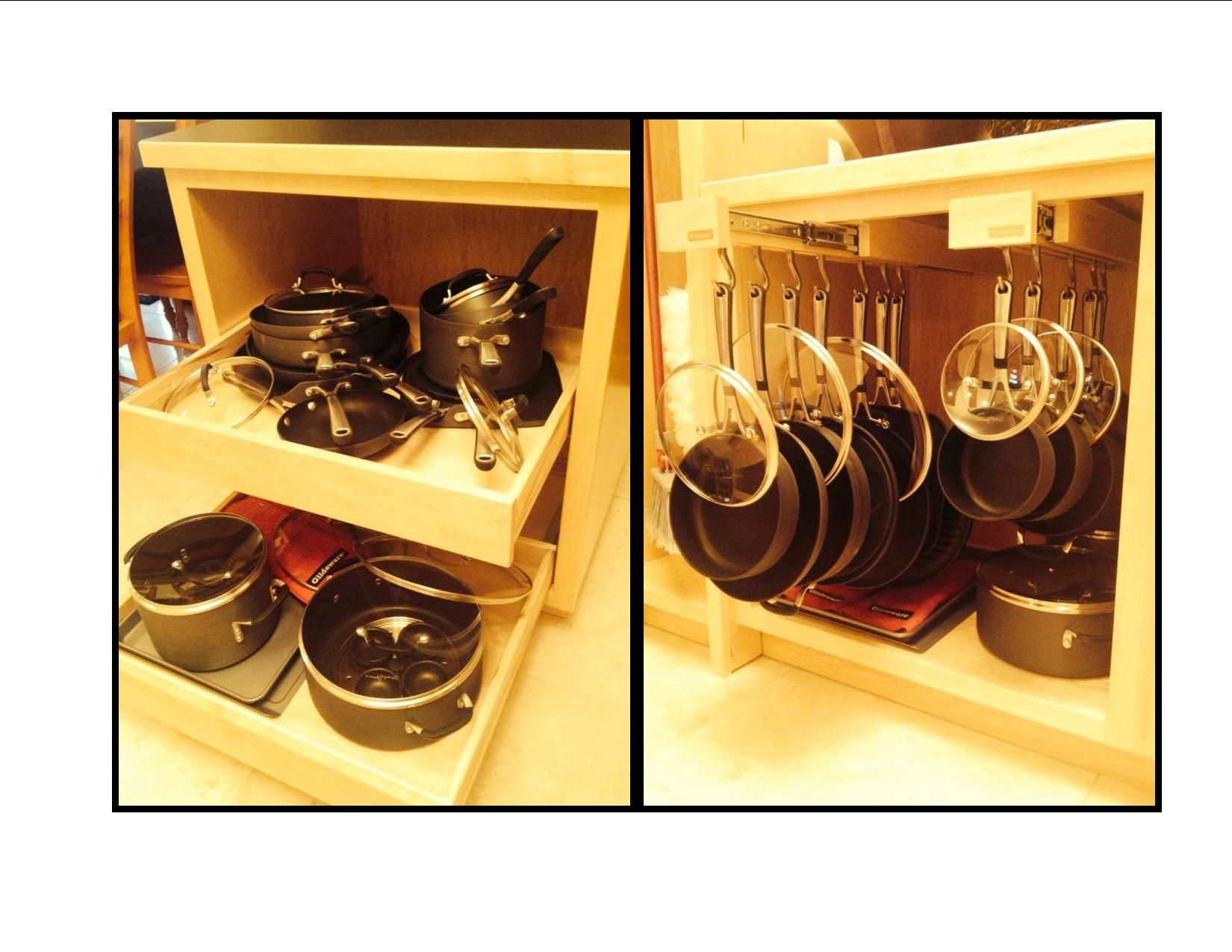 Glideware before and after. 27 pieces of cookware in a 27 inch ...