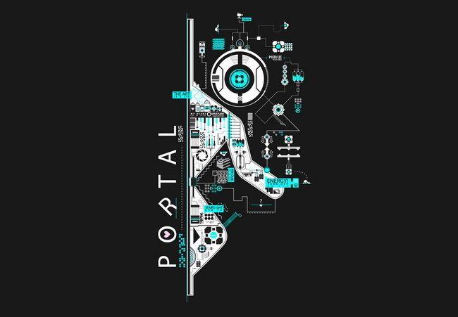 Details About 035 Portal 2 First Person Puzzle Platform Video Game 20 X14 Poster Portal Art Portal Wallpaper Portal Game