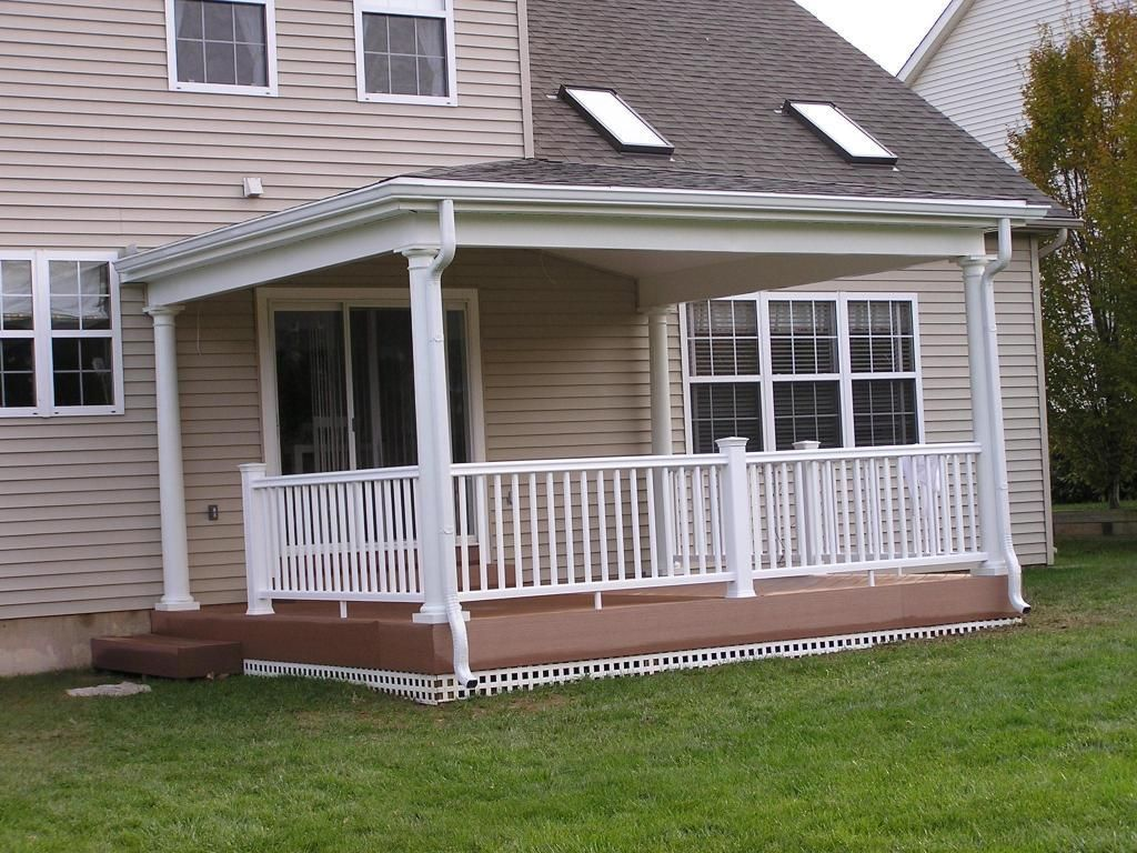 The porch roof could have relatively low pitch porch for Open porch roof designs