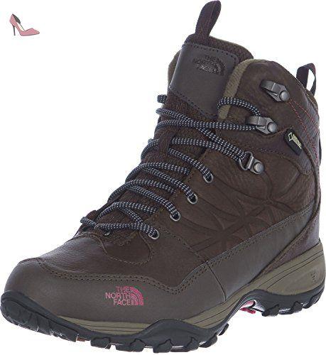 The North Face T92UX2QDK. 5, Chaussures de Randonnée Hautes Femme, (Dark Gull Grey/Red), 36 EU