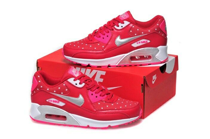newest 26eff 9cd6a Nike Air Max 90 Womens Shoes Hot NEW Peach Red Silver White