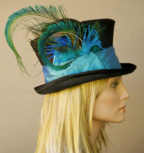 d50fe69d4c2 Top Hat Mad Hatter Kentucky Derby Black   Peacock by AwardDesign ...