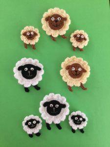 Sheep and Lamb Crochet Pattern • Kerri's Crochet