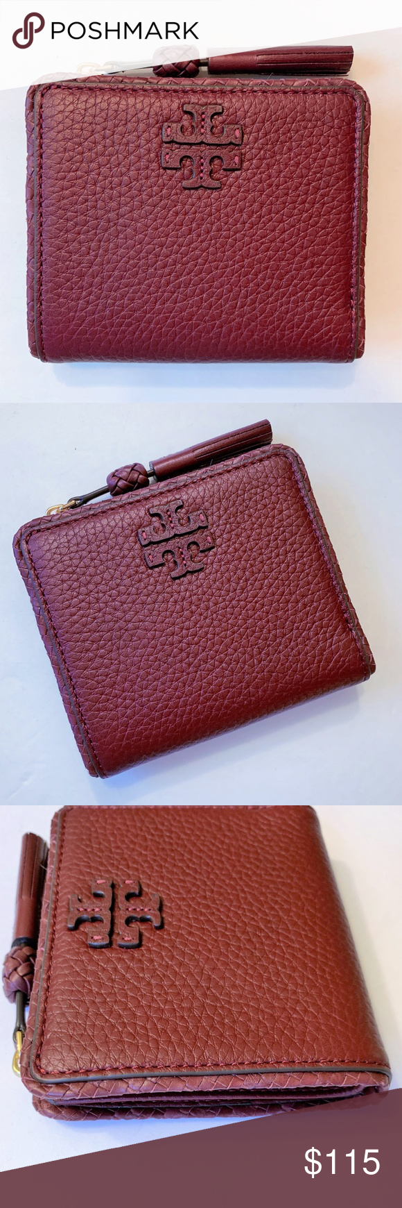 46d392aa577 TORY BURCH Taylor Mini Wallet ~ Leather Tassel Taylor Mini Wallet by Tory  Burch in Imperial