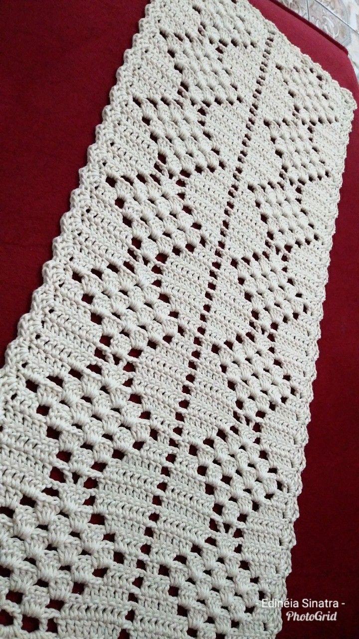 Caminho geometrico | Bolsa em croche | Pinterest | Caminos de mesa ...