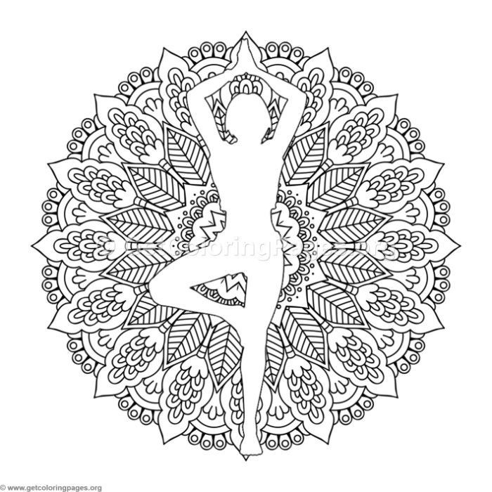 download this free standing yoga pose mandala coloring pages coloring coloringbook. Black Bedroom Furniture Sets. Home Design Ideas