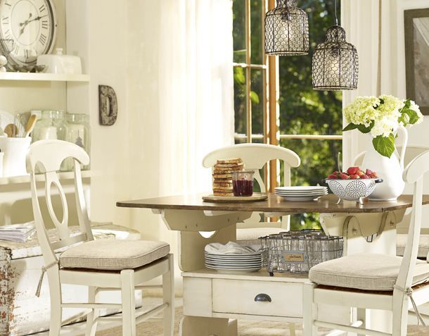Dining Room Ideas Small Spaces   Pottery Barn   Kitchen ...