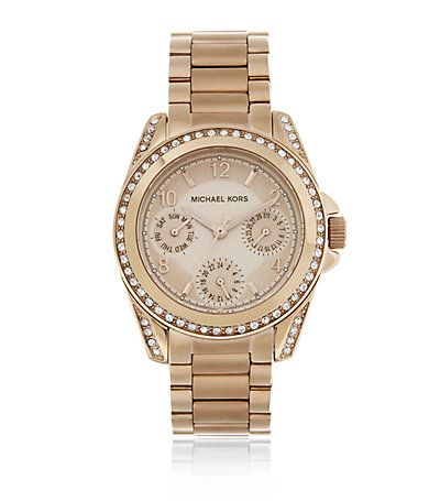 4314e10e993e Michael Kors Blair 33mm Chronograph Glitz Watch in Rose Gold available to  buy at Harrods. MK5613. Shop Michael Kors watches online with Free UK  Returns.