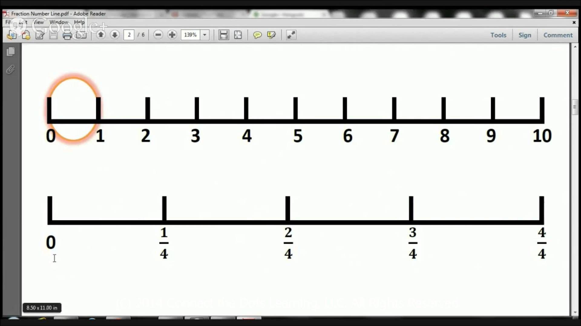 3rd Grade Fractions Number Line Lesson 2