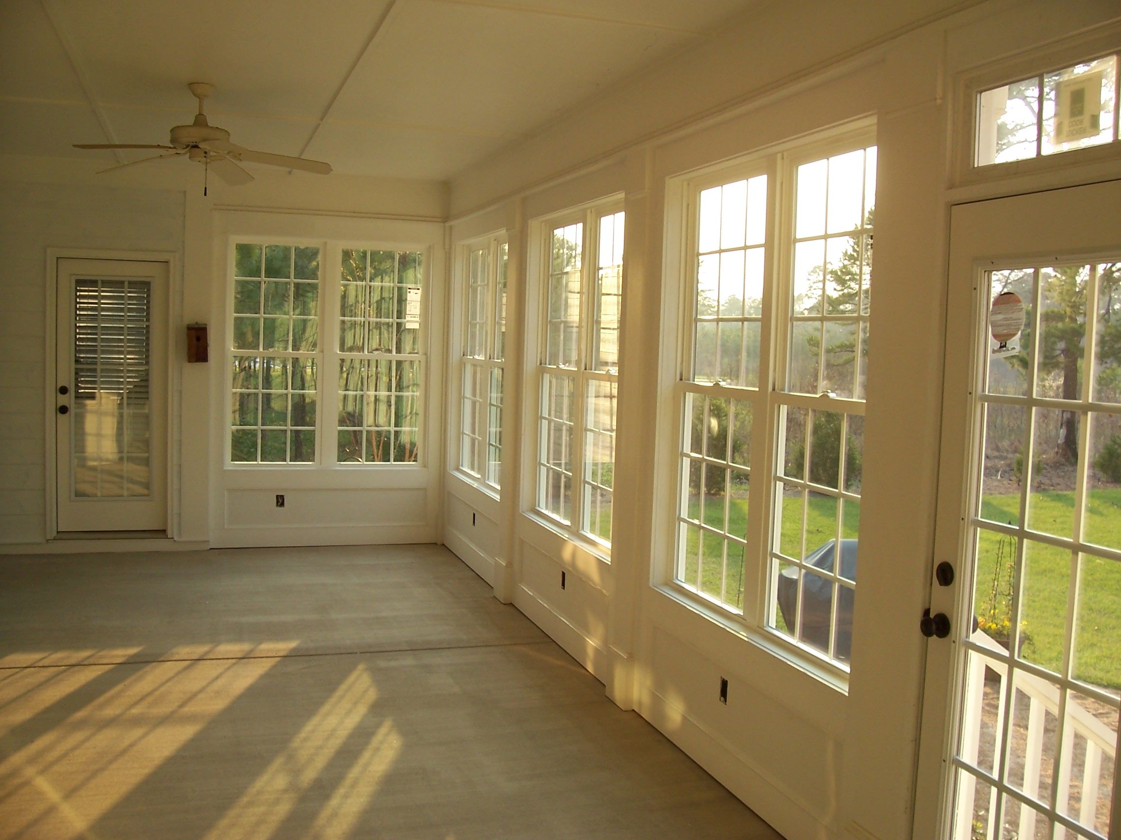 Remodel project Screen Porch turned Sunroom Sun Porch Interior Pic 8 Visit us at stevecoxinc