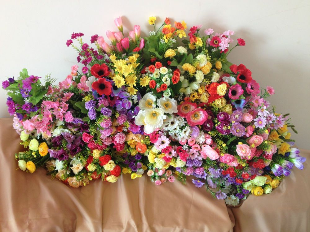 Various Joblot Bunches Artificial Silk Faux Floral Flowers Wholesale