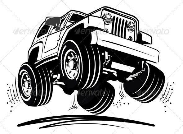 Baru 30 Gambar Kartun Pick Up 4x4 Graphics Designs Templates From Graphicriver Download Free Truck Games Online A Cartoon Jeep Jeep Vector Jeep Illustration