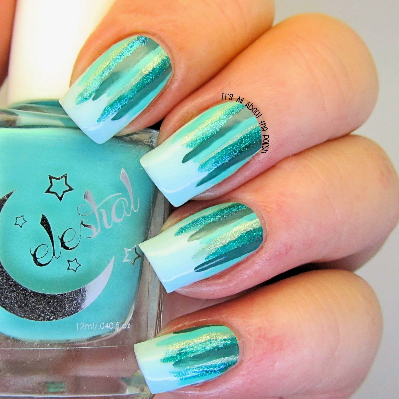 Its All About The Polish Aussie Nails Monday Theme Waterfall