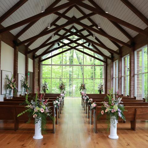 Graceland Wedding Chapel Chapel In The Woods In 2020 Chapel In The Woods Wedding Chapel Decorations Chapel