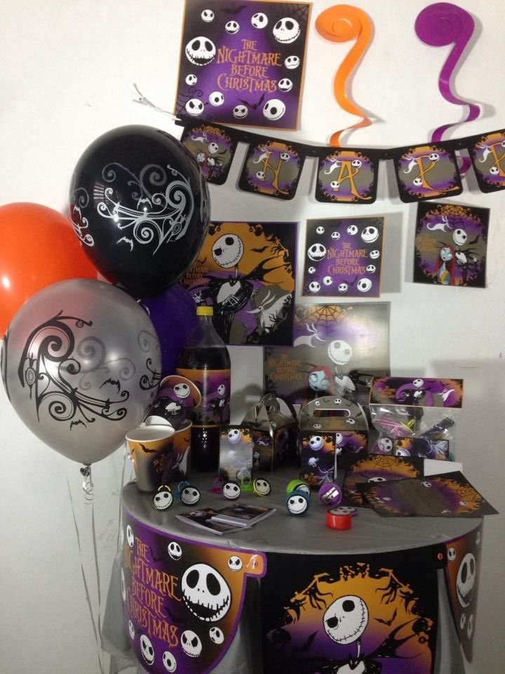The Nightmare Before Christmas happy birthday party pack supplies ...