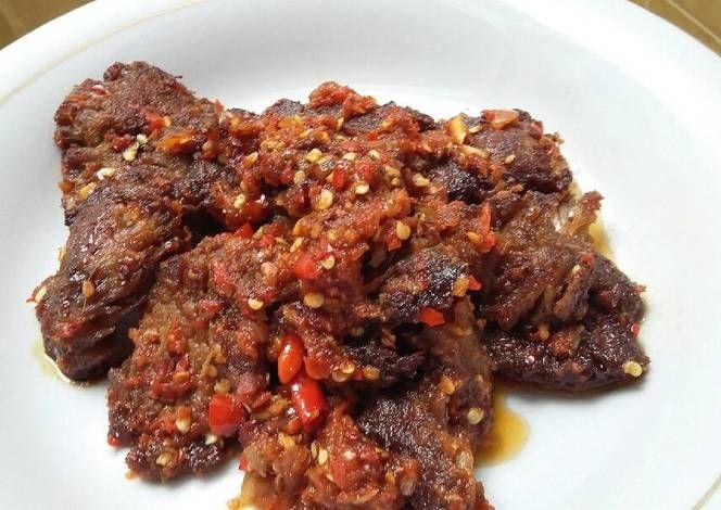 Dendeng Balado Basah Recipe Food Meat Jerky Pita