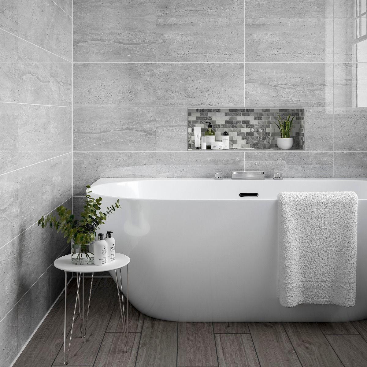 pallington light grey gloss 250x500mm ceramic wall