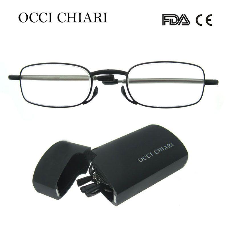 c57f160f712 2018 Recommend New MINI Design Reading Glasses Men Women Folding Small  Glasses Frame Black red Glasses With Metal Box CAPONI
