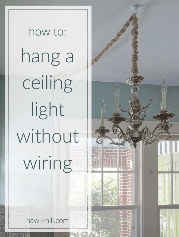 instructions for hanging a ceiling light without ceiling wiring