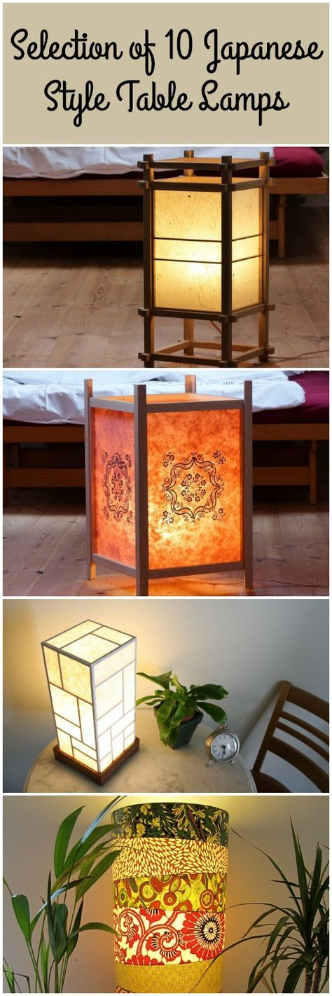 Selection of 10 japanese lamps japanese style japanese and wooden 10 japanese style table lamps aloadofball Choice Image
