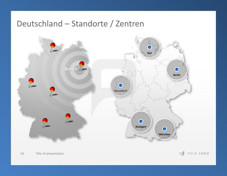 Professional PowerPoint Germany Map Template Presentationload - Germany map template