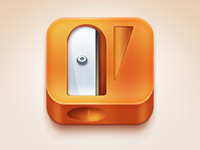 Sharpener App icon, Ios icon, Mobile icon
