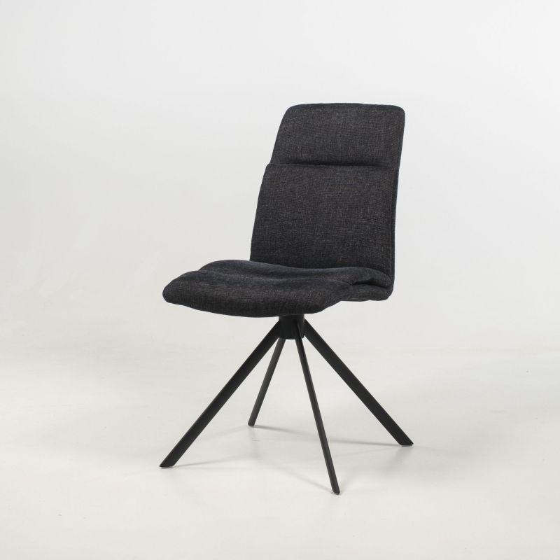 Chaise Pivotante En Tissu Rembourree Avec Pieds Obliques