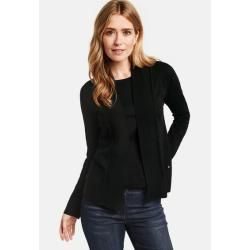 Photo of Strickjacke mit Schalkante Schwarz Gerry Weber