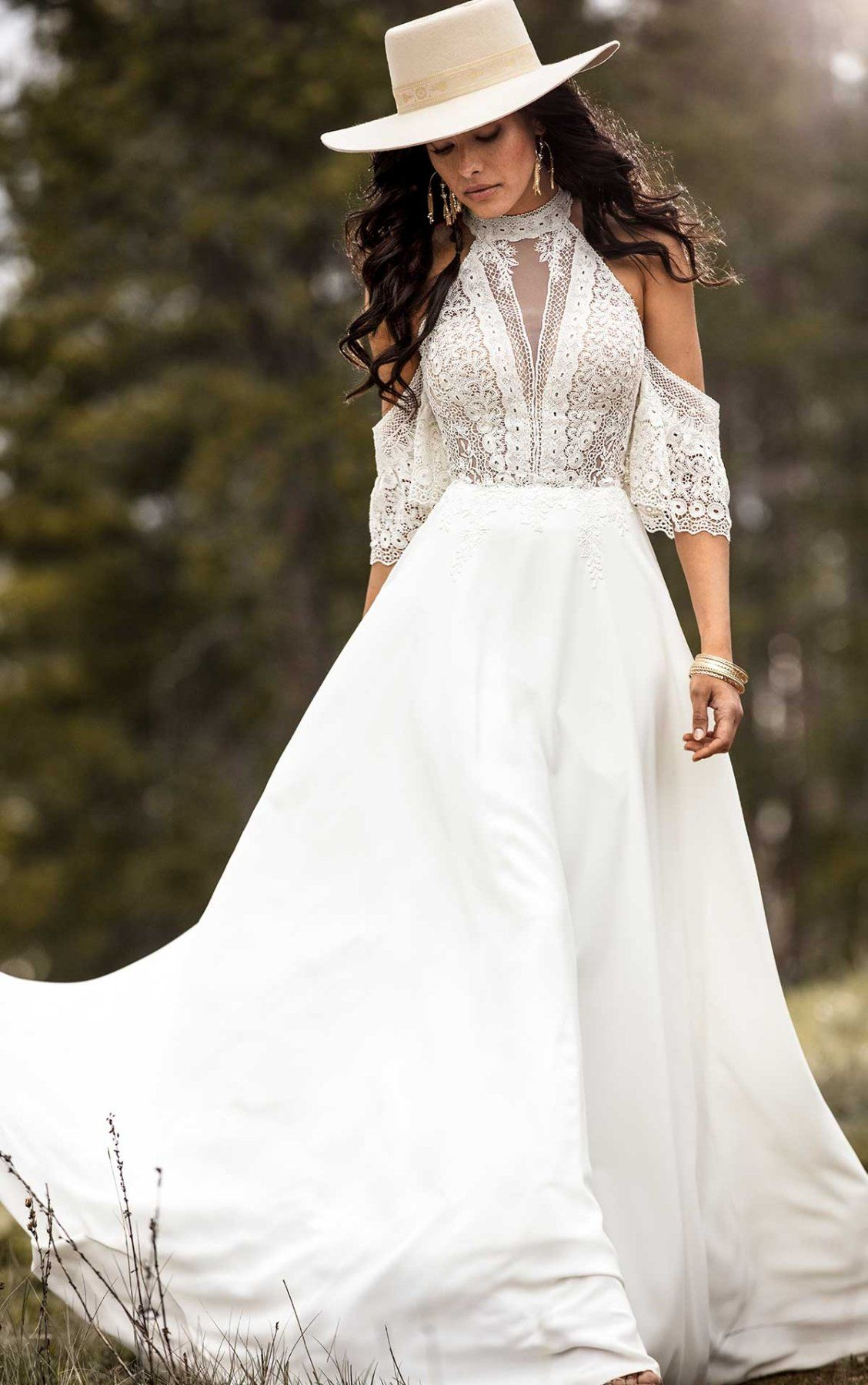 Simple Bohemian Wedding Dress With Removable Arm Cuffs All Who Wander Bohemian Wedding Dress Wedding Dresses Boho Bridal Gowns [ 1799 x 1128 Pixel ]