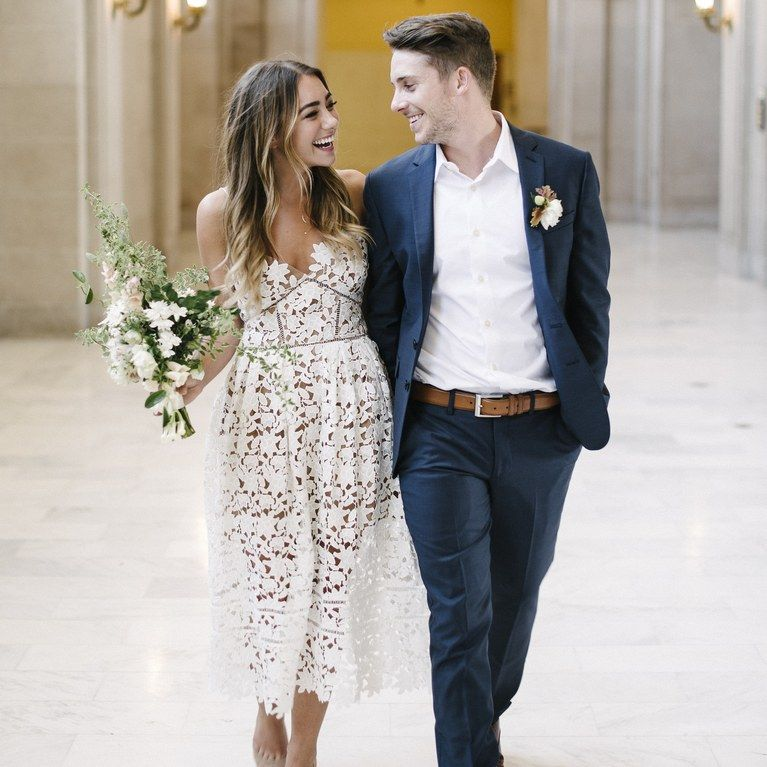 These City Hall Wedding Beauty Looks Make The Case For