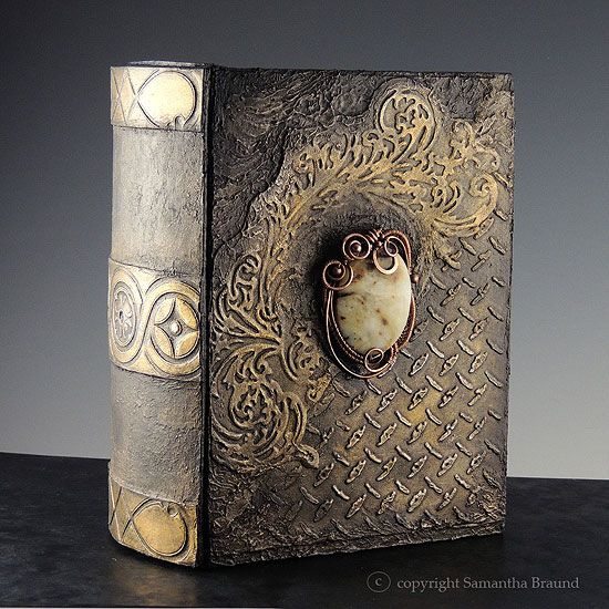Steampunk Book Cover Diy ~ Jade gothic book steampunk influenced altered by