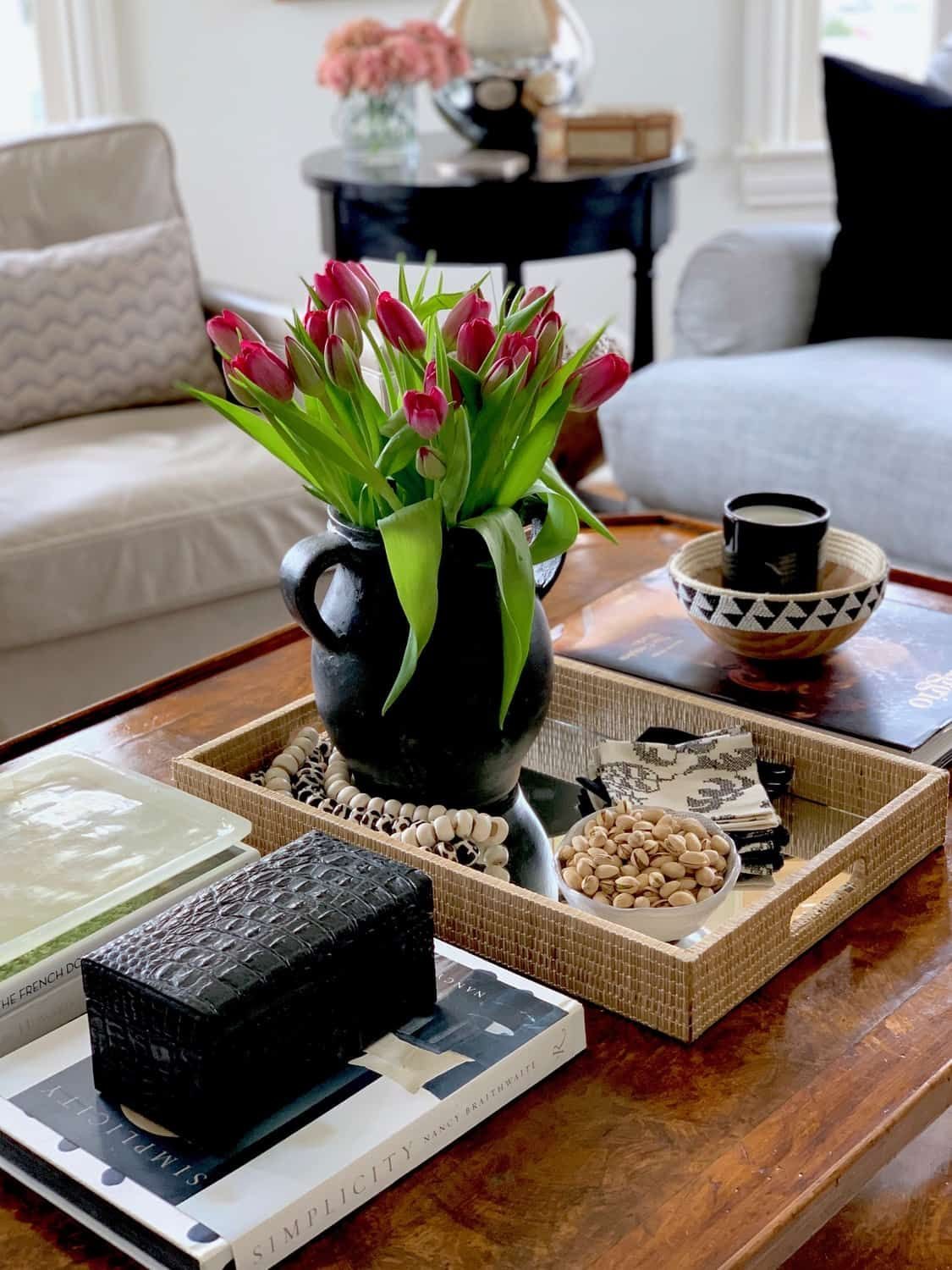 Five Basic Steps To Style Your Coffee Table Decorating Coffee Tables Coffee Table Decor Living Room Table Decor Living Room