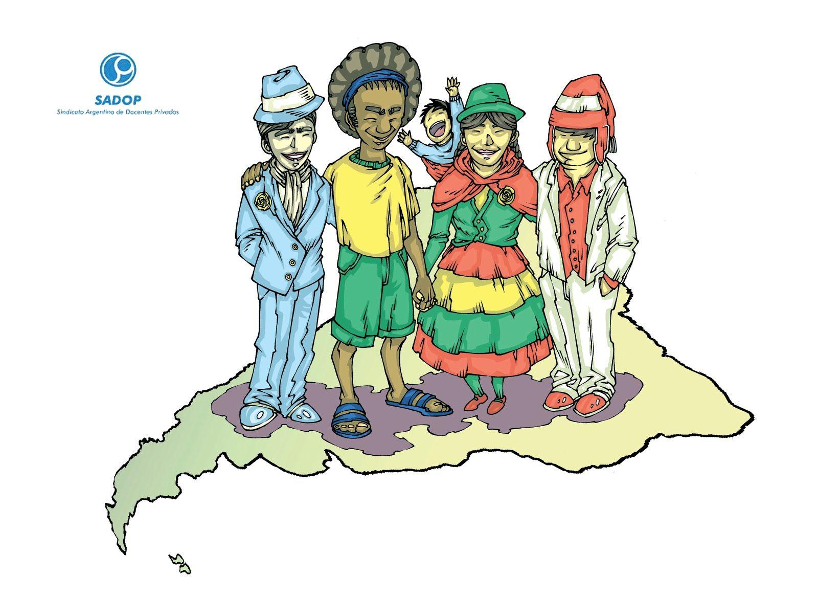 Resultado De Imagen Para Dibujos De Inmigrantes En Argentina