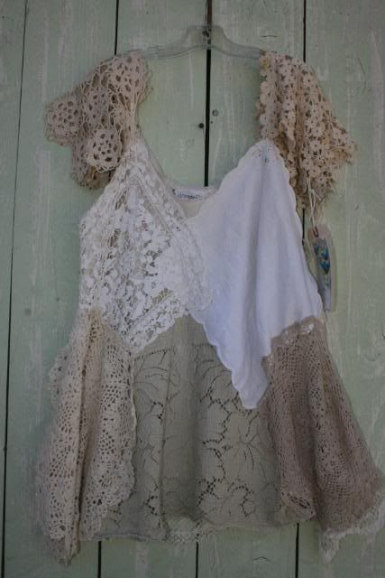 Hankie and doily top: