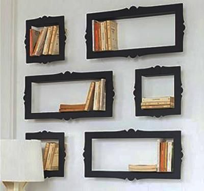 creative wall decoration with picture frame and display. Black Bedroom Furniture Sets. Home Design Ideas