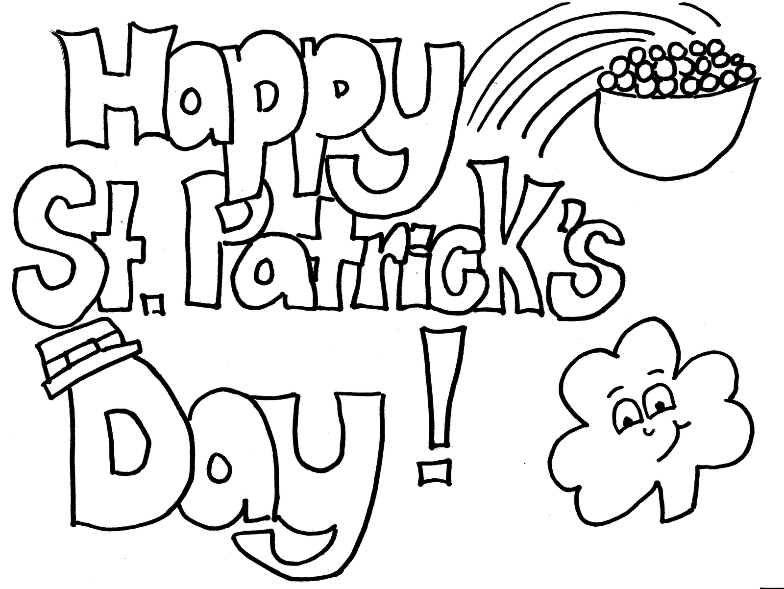 st patricks day colouring page