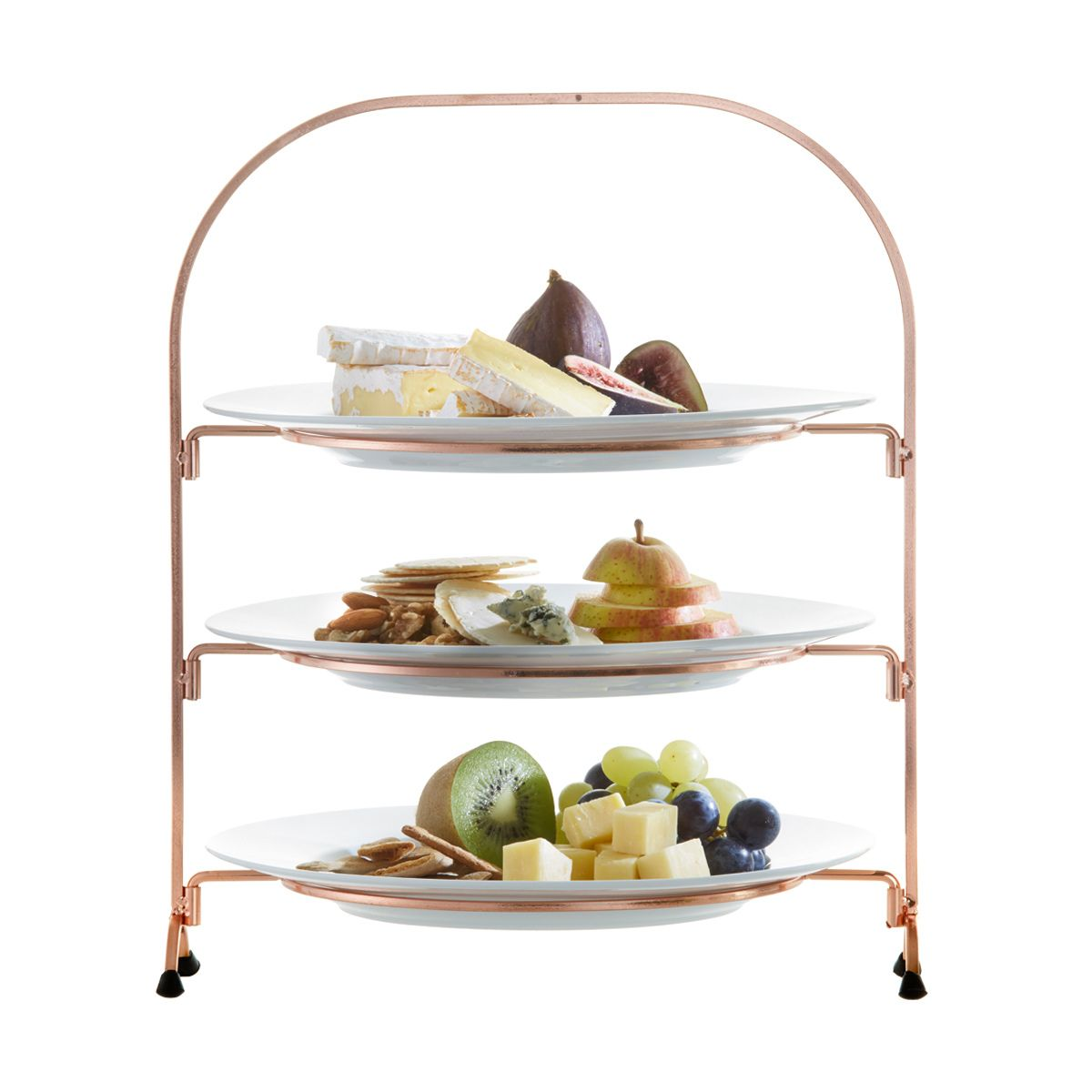 Wire 3 Tier Stand With Plates | Kmart  sc 1 st  Pinterest & Wire 3 Tier Stand With Plates | Kmart | Kitchen | Pinterest | Tiered ...