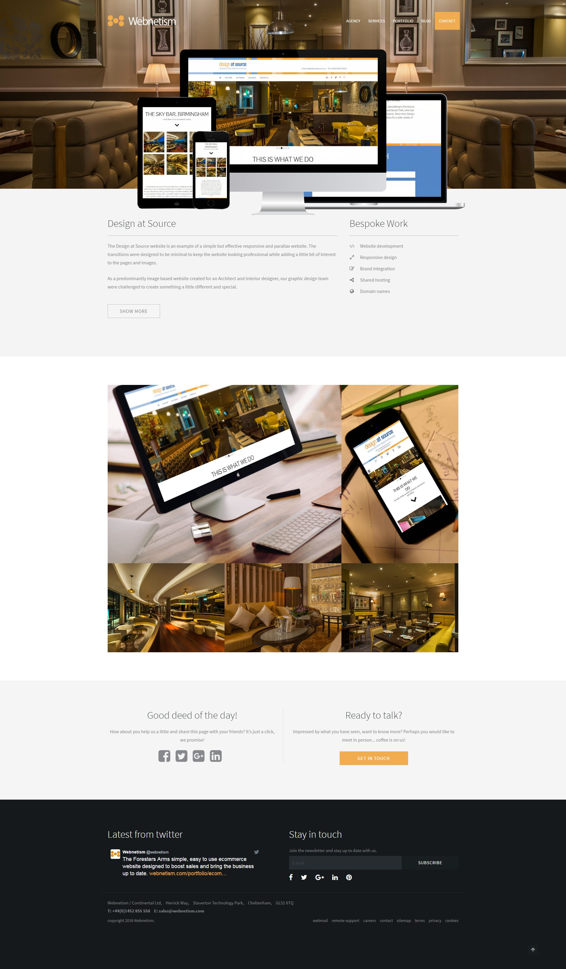 Design At Source Static Responsive Html5 Css3 Website Completed And Hosted By Webnetism Design Web Development Team In Che Design Html5 Css3 Web Design