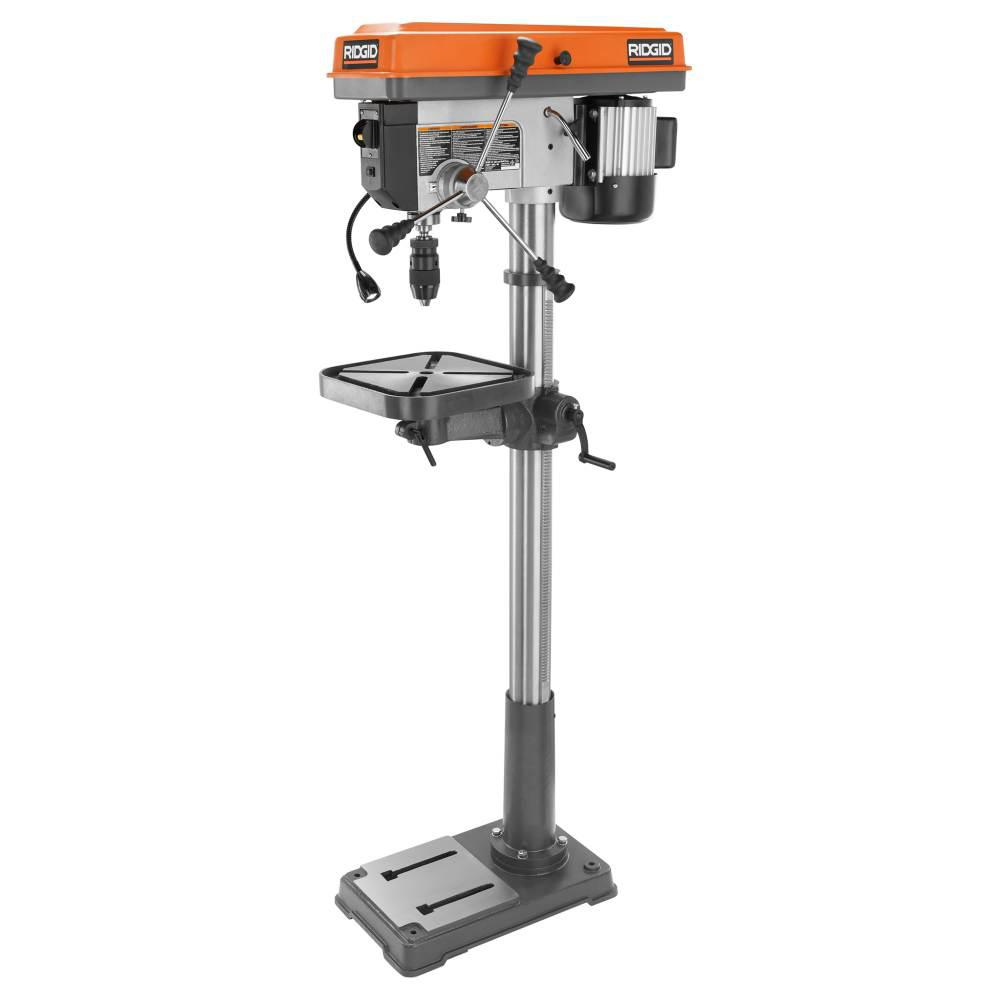 Ridgid 15 In Drill Press With Led R1500 The Home Depot Drill Press Drill Led Work Light