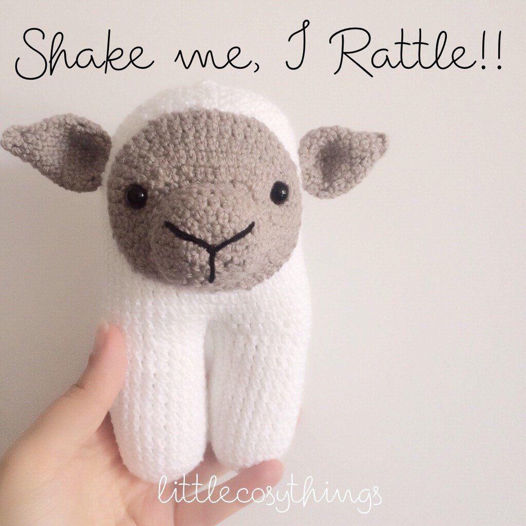 Images of baby toys  Stuffed Animal Baa the Lamb Sheep  soft crochet toy stuffed
