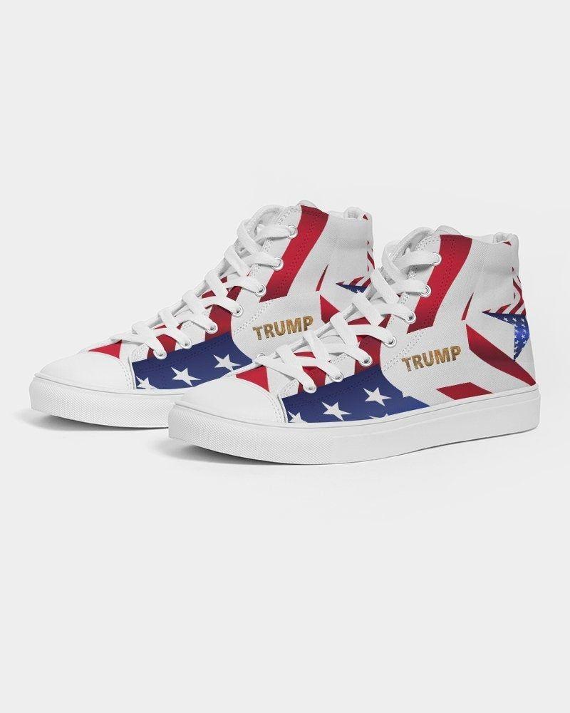 Trump Sneakers Hi Tops Trump Tennis Shoes Trump Mens Sneakers Etsy In 2020 Patriotic Sneakers Sneakers Sneakers Men