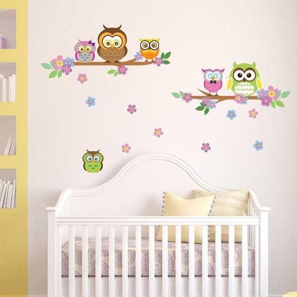 Baby Wandtattoo Eulen ist eine liebevoll gestaltetes und süßes ...