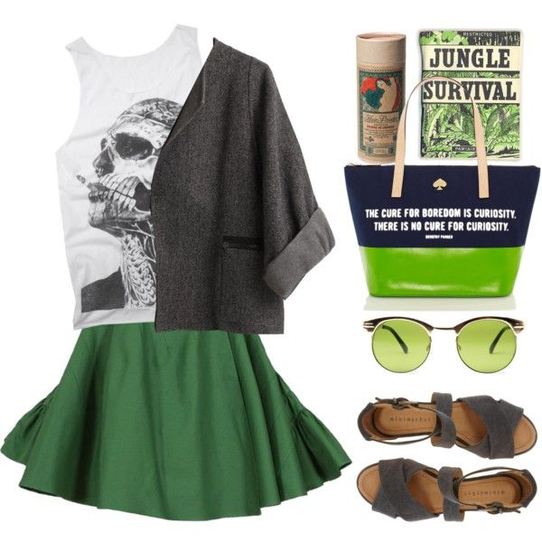 """""""the cure for boredom is curiosity"""" by maria-maldonado on Polyvore"""