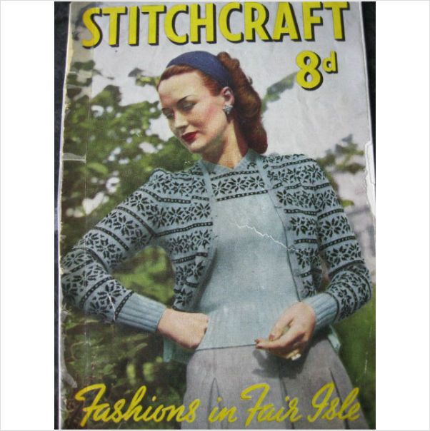 1940s Stitchcraft Magazine Fashions In Fair Isle Knitting On Ebid