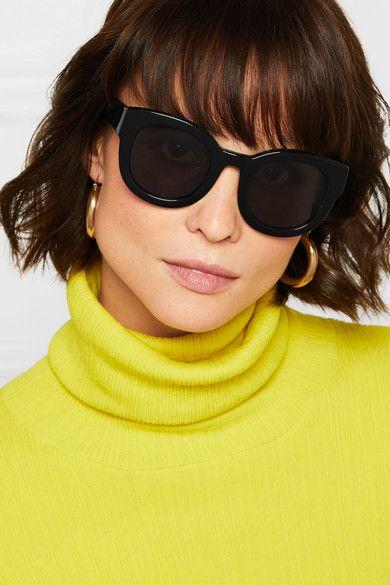 7518672c5c GANNI - Fay Cat-eye Acetate Sunglasses - Black