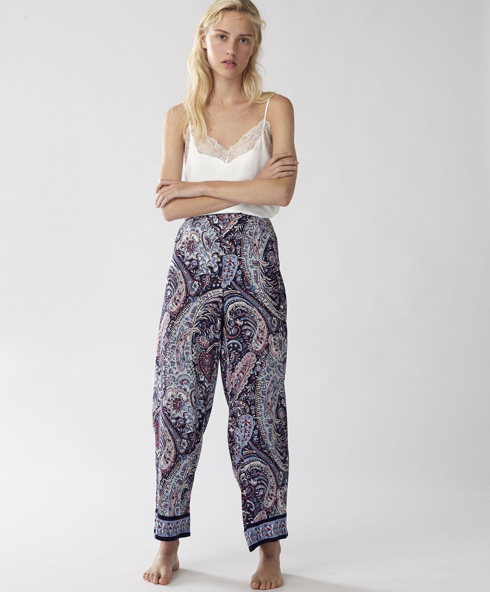 Spodnie W Kwiaty Spodnie Wielobarwn Reserved Trousers Women Blazers For Women Trousers