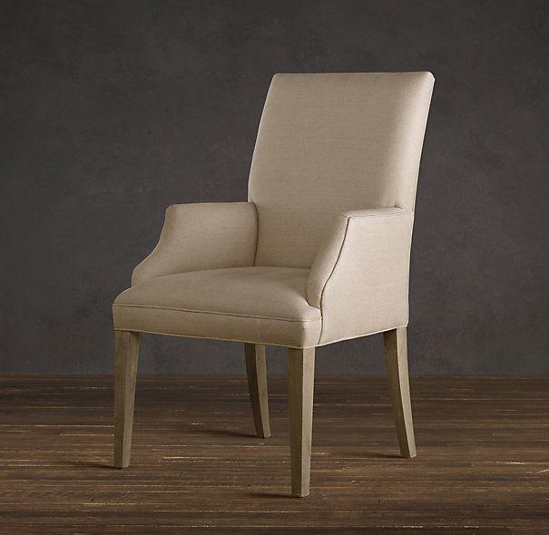 Rest hardware hudson parsons upholstered armchair armchair for Parsons dining chairs upholstered