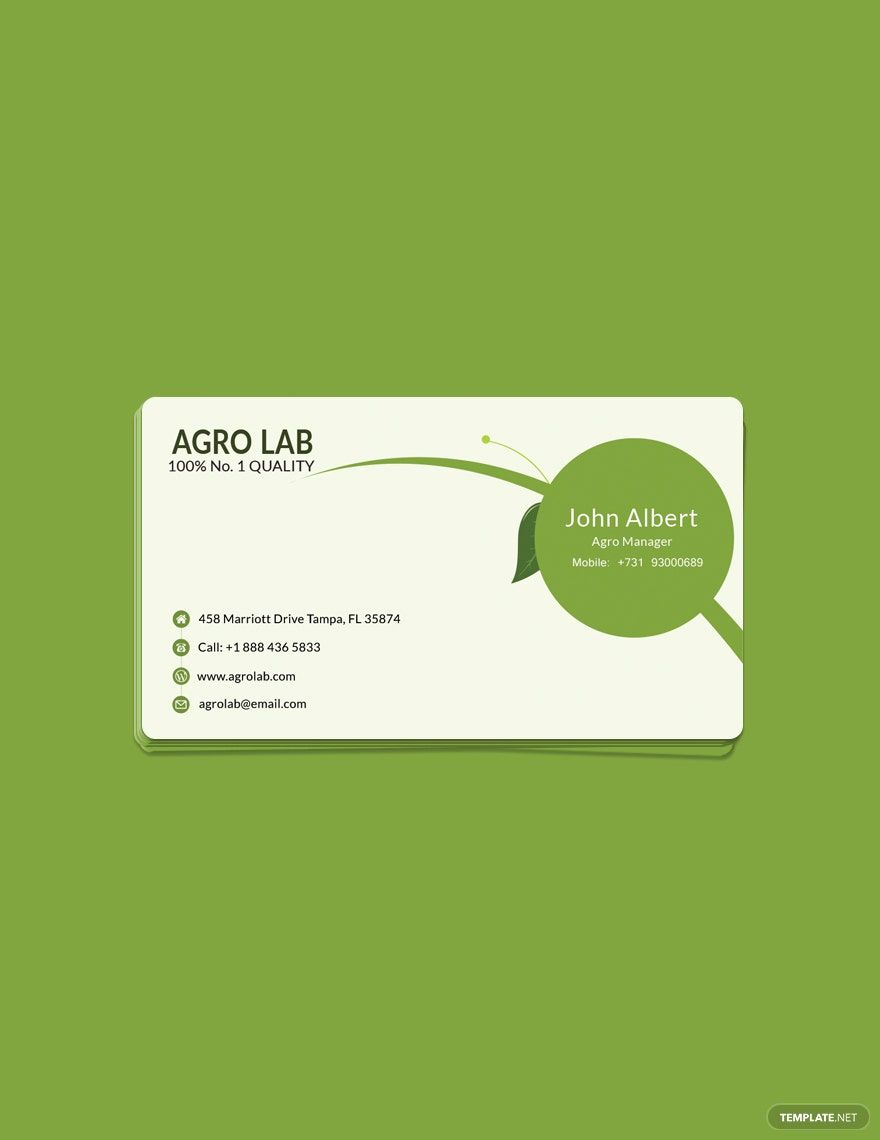 Free Agriculture Business Card Template Word Doc Psd Apple Mac Pages Publisher Illustrator In 2020 Agriculture Business Business Card Template Word Business Card Template