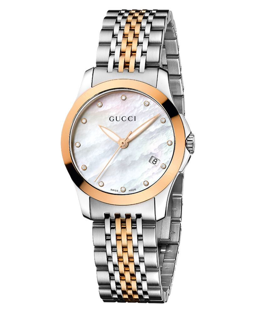 22b1cd64408 Women s Swiss G-Timeless Two Tone Stainless Steel Bracelet Watch ...